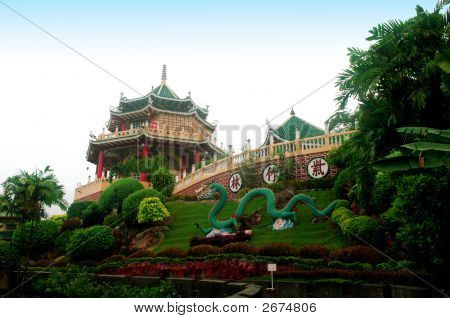 The Taoist Temple Cebu in Philippines Landscape poster