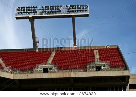 Looking Up At The Upper Seating At A Sports Stadium
