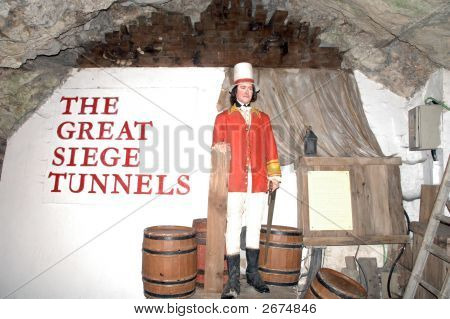 The Great Siege Tunels Museum In Gibraltar