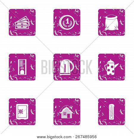 Seclusion Icons Set. Grunge Set Of 9 Seclusion Vector Icons For Web Isolated On White Background