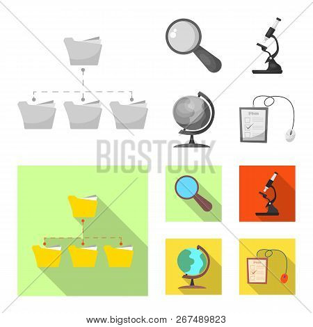 Isolated Object Of Education And Learning Logo. Collection Of Education And School Stock Symbol For