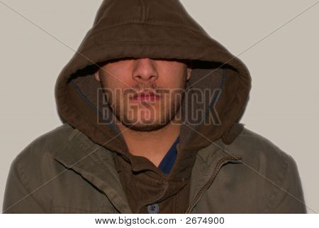 Young Gangster With Hood