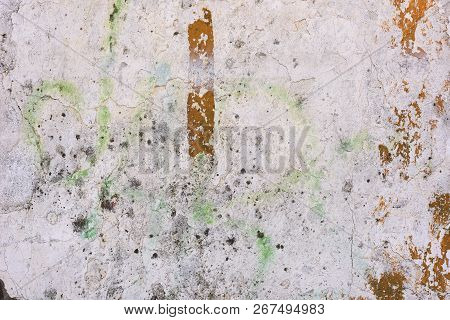 Abstract Grunge Surface Texture As Background With Distressed And Scratch Details