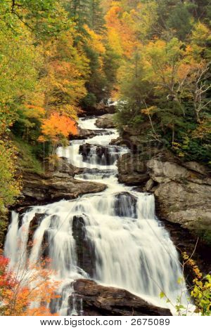 Autumn Color Waterfalls