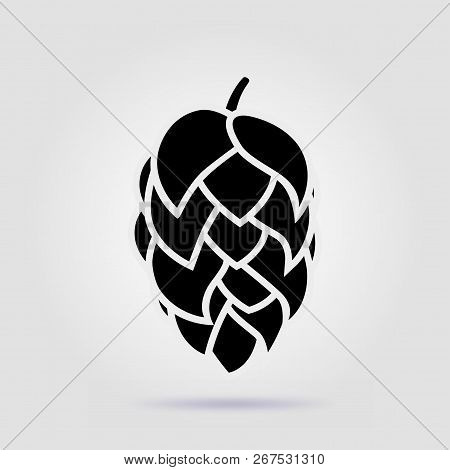 Beer Hop Cone Icon Isolated On Gray Background