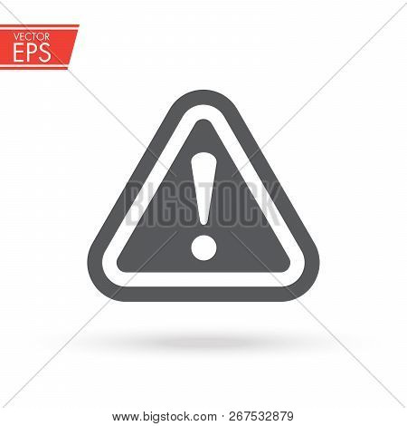 The Attention Icon. Danger Symbol. Flat Vector Illustration. Vector Attention Sign With Exclamation