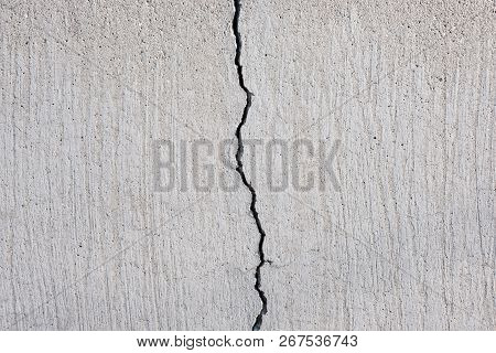 Cracked Concrete Texture, Crack In Stone Wall