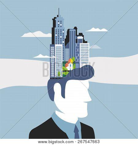 Mechanism Of The Brain, Creative Thinking Worker. A Symbol Of Creativity, Creative Ideas, Mind, Thin