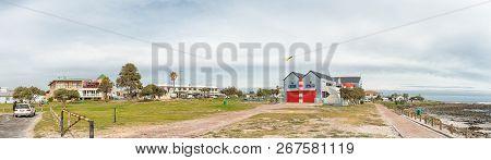 Melkbosstrand, South Africa, August 19, 2018: A Beach Scene, With Restaurants, Businesses And People