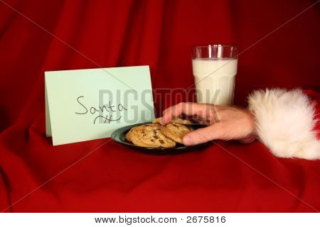 Santa Takes A Cookie