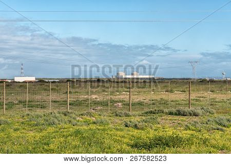 Melkbosstrand, South Africa, August 19, 2018: A View Of The Koeberg Nuclear Power Station At Melkbos