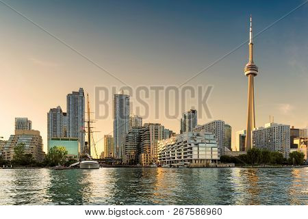 Toronto Downtown At Sunset - Toronto, Ontario, Canada.