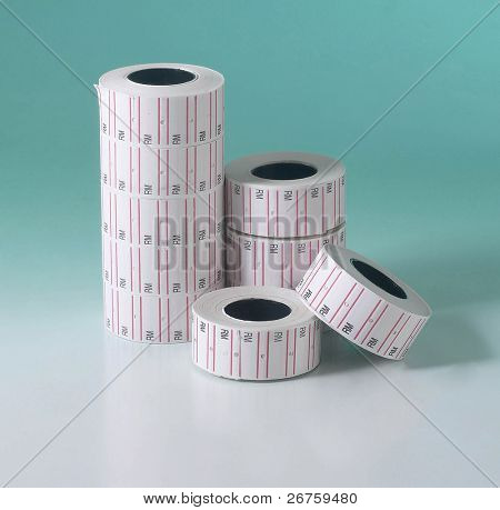 New roll of price tag.