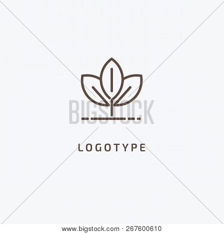 Abstract Green Leaf Logo Icon Vector Design. Landscape Design, Garden, Plant, Nature And Ecology Vec