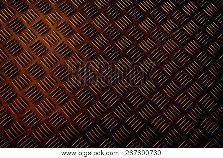Pattern Of The Dark Gold Surface Background