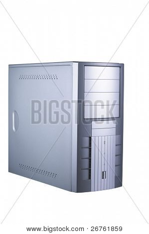 Computer tower (CPU) with work path for easy background removal.