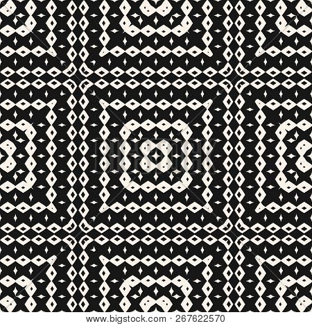 Vector Ornamental Seamless Pattern With Geometric Elements, Squares, Rhombuses. Ethnic Tribal Backgr