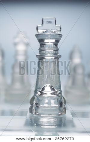 stock images of transparent glass chess poster