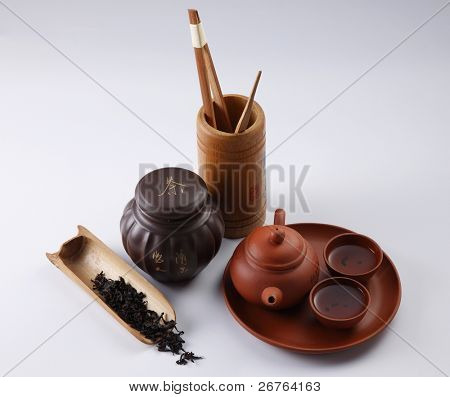 stock image of the oriental tea  pot