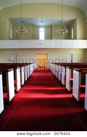 Long Aisle In Church