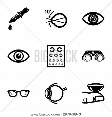 Explore Vision Icons Set. Simple Set Of 9 Explore Vision Vector Icons For Web Isolated On White Back