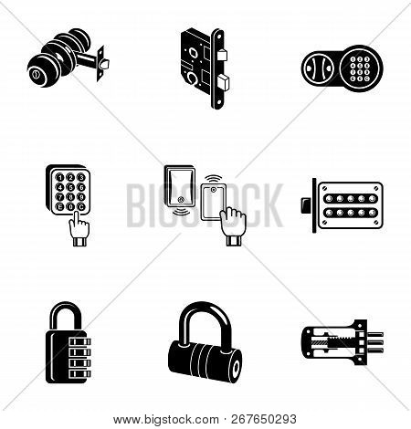 Cipher Icons Set. Simple Set Of 9 Cipher Vector Icons For Web Isolated On White Background
