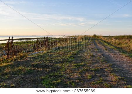 Winding Seaside Footpath At The Swedish Island Oland