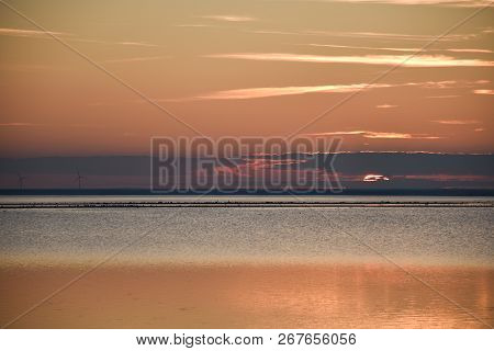 Colorful Seascape By Sunset At The Swedish Island Oland In The Baltic Sea