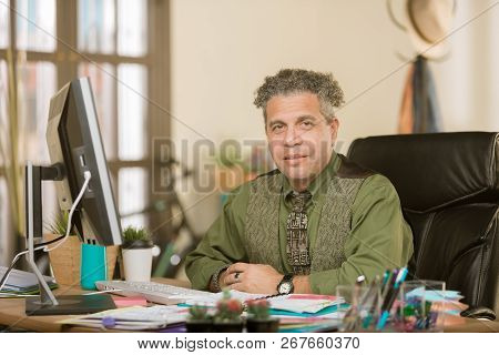 Handsome Professional Man In A Creative Office