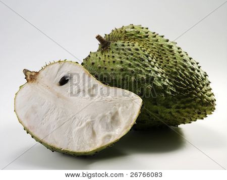 sour sop fruit and cuts poster