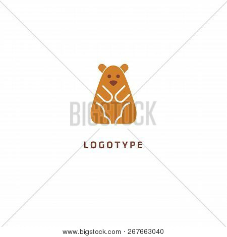 Hamster Silhouette Logo. Vector Abstract Minimalistic Illustration Veterinary. Mouse Icon. Pet, Pet