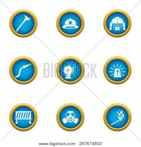 Hazardous Work Icons Set. Flat Set Of 9 Hazardous Work Icons For Web Isolated On White Background