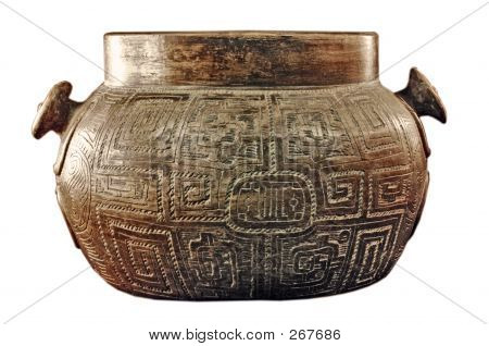 this is a native american pot found in an archaeological dig. this pot is from around 1400 ad and has a clipping path (i just learned how to do it) poster