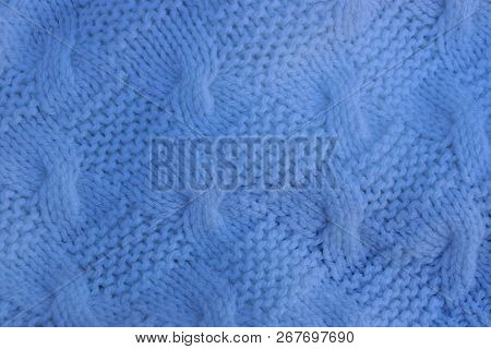 Gray Background Of Wrinkled Fabric On Old Clothes