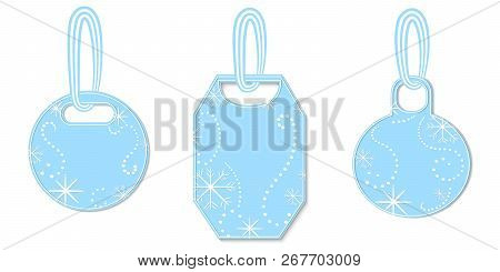 Set of Tags Decorated with Snowflakes and Chaplets poster
