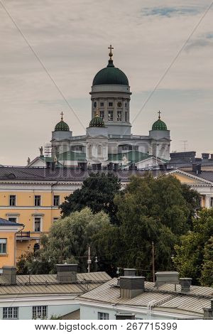 Finnish Evangelical Lutheran cathedral in Helsinki, Finland poster