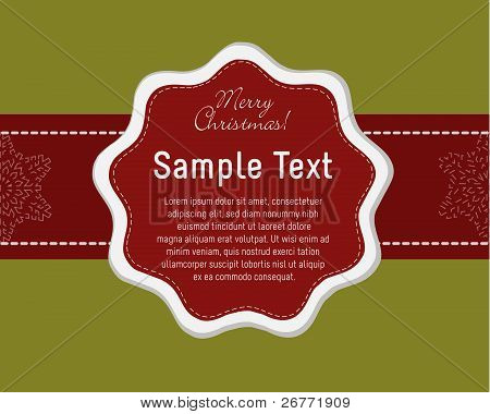 Elegant Christmas Card Template