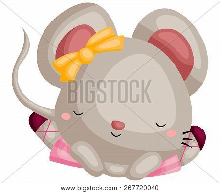 A Vector Of A Mouse Doing Ballet Split