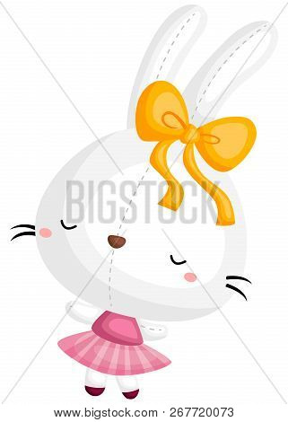 A Vector Of A Rabbit Doing Ballet