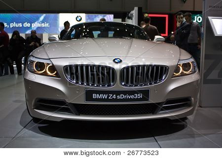 GENEVA - MARCH 7: BMW Z4 on display at the 79th International Motor Show Palexpo-Geneva on March 7, 2009.
