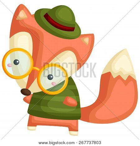 A Vector Of A Fox Wearing Shirt And A Hat