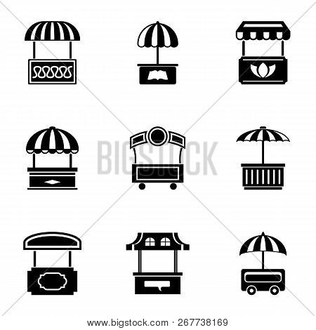 Trading Tent Icons Set. Simple Set Of 9 Trading Tent Vector Icons For Web Isolated On White Backgrou