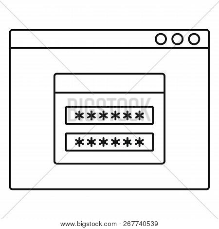 Login Account Icon. Outline Illustration Of Login Account Icon For Web Design Isolated On White Back