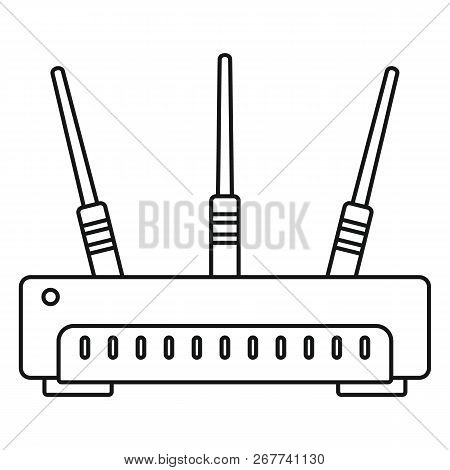 Wifi Router Icon. Outline Illustration Of Wifi Router Icon For Web Design Isolated On White Backgrou