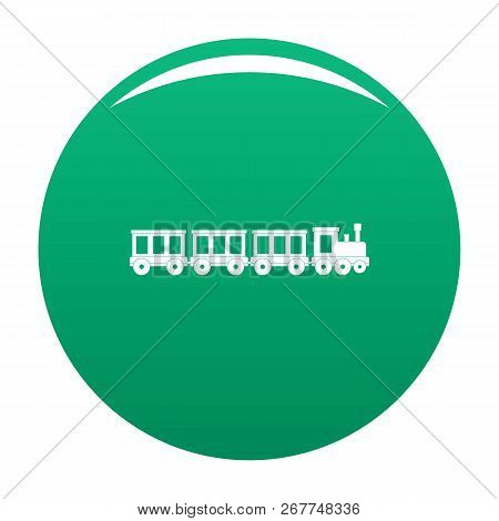 Passenger Train Icon. Simple Illustration Of Passenger Train Icon For Any Design Green