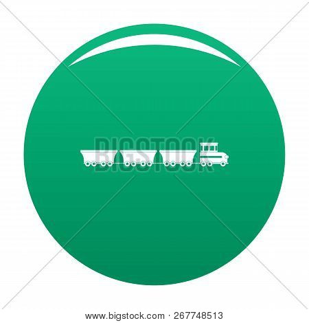 Commercial Train Icon. Simple Illustration Of Commercial Train Icon For Any Design Green