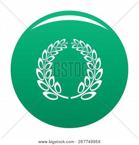 Trophy Wreath Icon. Simple Illustration Of Trophy Wreath Icon For Any Design Green