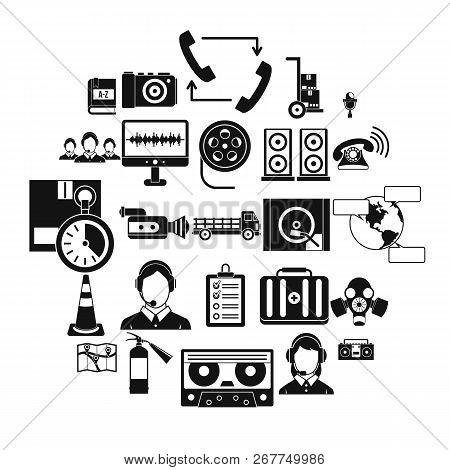 Wireless Headphones Icons Set. Simple Set Of 25 Wireless Headphones Vector Icons For Web Isolated On
