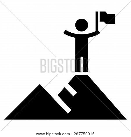 Hight political target icon. Simple illustration of hight political target icon for web design isolated on white background poster