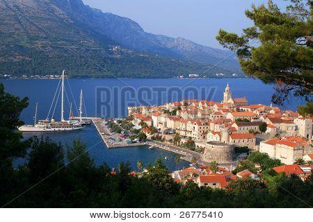 Korcula island and the city, Croatia